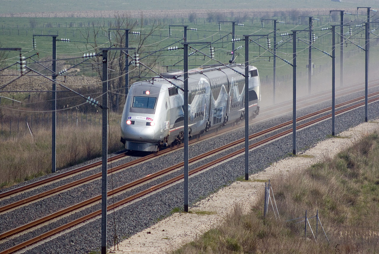 TGV World Speed Record 574 km per hour